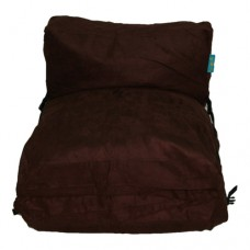 Three Blocks - Chocolate Microfiber Suede