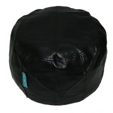 Drum Stool - Black Textured PU Leather