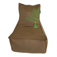 Lounge - Beige Solid Cotton Twill 'Earth Tree'