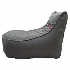 Chaise Lounge with Inner Lining - Dark Grey with Grey Green piping Polyester