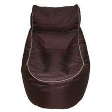 Chaise Lounge - Chocolate Brown with Beige piping Polyester