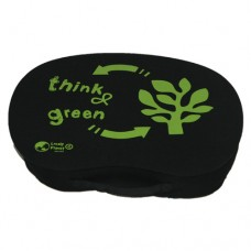 Bean Lap Table - Black Polyester 'Think Green'