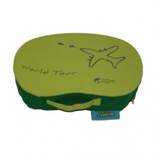 Bean Lap Table - Lime Polyester 'World Tour'