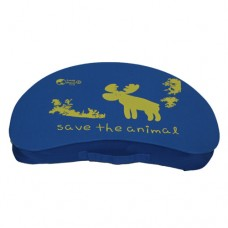Crescent Lap Table - Blue Polyester 'Save the Animal'
