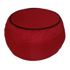 Coffee Table - Red with Black piping Polyester