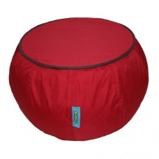 Coffee Table - Red with Bistre Brown piping Polyester