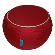 Coffee Table - Red with Beige piping Polyester