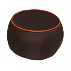 Coffee Table - Chocolate Brown with Orange piping Polyester