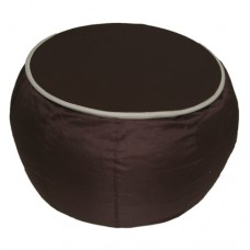 Coffee Table - Chocolate Brown with Beige piping Polyester